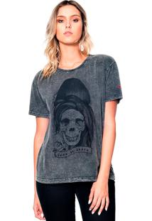 Camiseta Estonada Skull Amy Useliverpool Cinza