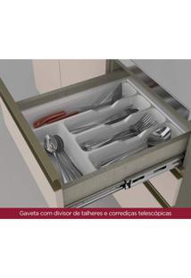 Cozinha Completa Porta Com Vidro 7 Peças 12 Portas Alice Siena Móveis