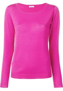 P.A.R.O.S.H. Slim-Fit Cashmere Pullover - Rosa