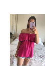 Blusa Feminina Mac-Lu Ciganinha Linha Premium Rosa New York