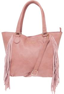 Bolsa Miss Unique Tote Franjas Rosa