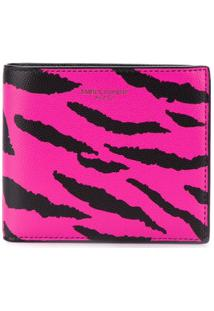 Saint Laurent Carteira Animal Print - Preto