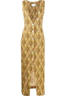 Nanushka Vestido Sem Mangas Com Paisley - Neutro