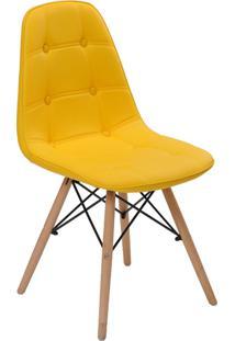 Cadeira Sem Braço Eiffel Botone-Rivatti - Amarelo