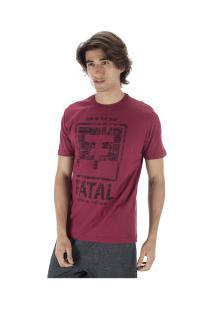 Camiseta Fatal Estampada 22134 - Masculina - Vinho