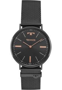 Relógio Feminino Technos Analógico 2025Ltm/4P - Unissex-Preto