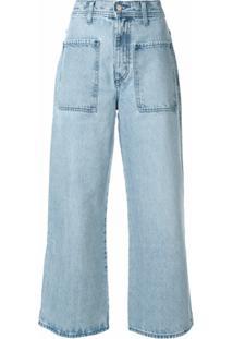 Nobody Denim Calça Jeans Pantacourt Costa - Azul
