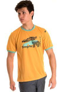Camisa Konciny Decote Redondo Amarelo