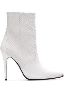 Amiri Ankle Boot De Couro - Branco