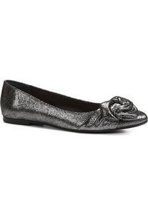 Sapatilha Shoestock Nó Drapeado Feminina - Feminino