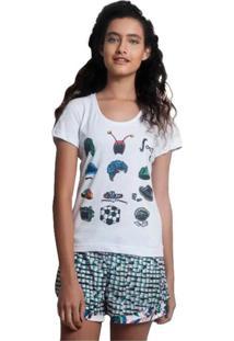 Camiseta Feminina Chaves Lembranças Da Vila Geek10 - Branco