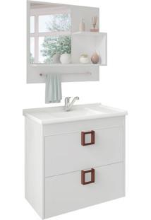 Conjunto De Banheiro Lirio Branco
