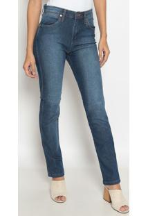 Jeans Reto Western Com Pespontos - Azulwrangler