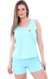 Pijama Algodão Mechler Short Doll Azul
