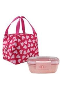 Necessaire Térmica Bem Estar Pink Com Marmita Jacki Design