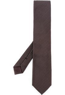 Tom Ford Gravata De Seda Com Textura - Vermelho