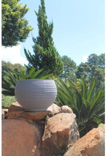 Vaso Para Plantas Redondo Em Polietileno 42 Esfera Lattice 33Cmx31Cm Japi Cimento