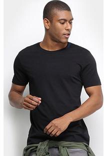 Camiseta Calvin Klein Básica Masculina - Masculino-Preto
