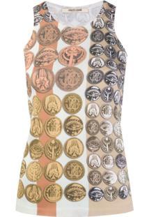 Roberto Cavalli Blusa De Tricô Stripes & Coins - Neutro