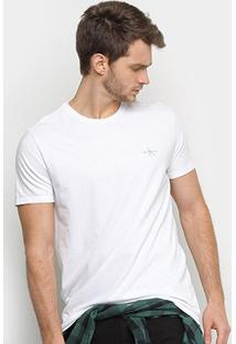 Camiseta Calvin Klein Manga Curta Masculina - Masculino-Branco