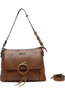 Bolsa De Couro Recuo Fashion Bag Baú Castor