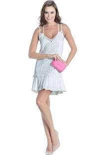 a3eaa0422 Vestido Alcas Guipir feminino