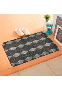 Capacho Carpet Triangulos Cinza