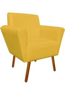 Poltrona Decorativa Dora Corino Amarelo - D'Rossi