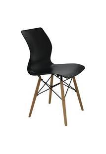 Cadeira Tramontina 92066009 Maja Unicolor Summa Com Base 3D Preta