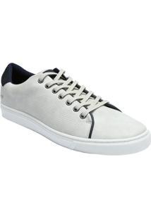 Sapatênis Com Micro Furos- Off White & Azul Marinhomr. Cat