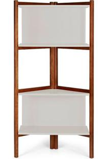 Estante Easy Cor Cacau Com Branco - 28991 - Sun House