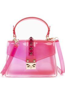 Bolsa Com Detalhes - Pink & Douradagasf