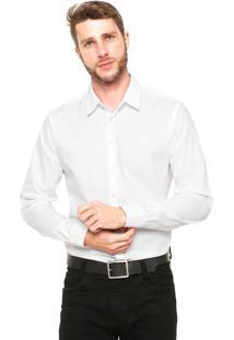 Camisa Colcci Reta Estampada Branca