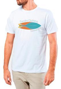Camiseta Masculina Sandro Clothing Prancha Branca