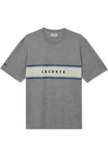 Camiseta Lacoste Masculina - Masculino-Cinza