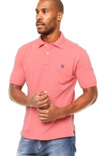 Camisa Polo Mr. Kitsch Manga Curta Basic Coral