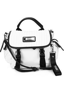 Bolsa Santa Lolla Handbag Nylon Feminina - Feminino-Branco