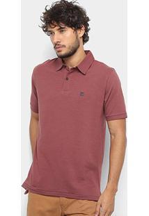 Camisa Polo Hang Loose Basic Masculina - Masculino-Vinho
