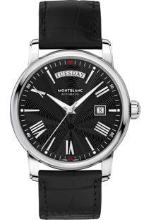c6c04d90ba5 ... Relógio Montblanc Masculino Couro Preto - 115936