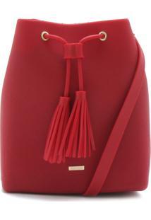 Bolsa Saco Dumond Tassel Vermelha