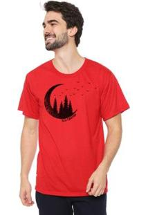 Camiseta Talismã Store Eco Canyon Lua Masculina - Masculino-Vermelho