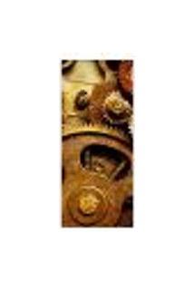 Adesivo Decorativo De Porta - Engrenagens - 052Pt-P Auto Colante