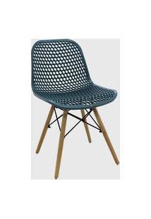 Cadeira Eloisa Verde Petróleo Conjunto 04 Rivatti