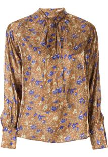 Loveless Blusa Com Padronagem Floral - Marrom