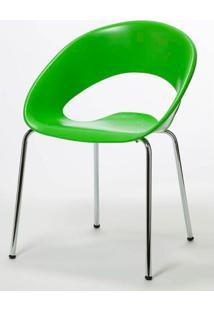 Cadeira One Base Fixa Cromada Cor Verde - 22670 - Sun House