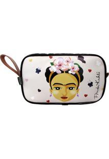 """Necessaire Frida Kahlo Fridinha"""" Rosa"""" - Kanui"""