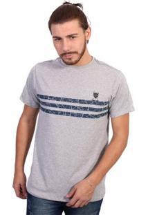 Camiseta New York Polo Club - Masculino-Cinza