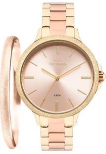 Relógio Technos Feminino Novo Olhar Bicolor - 2035Mmb/K4T 2035Mmb/K4T - Feminino-Rose Gold