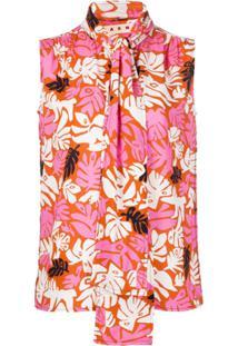 Marni Blusa Com Estampa Botânica - Rosa