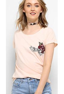 Camiseta Drezzup Estampada Rose Power Feminina - Feminino